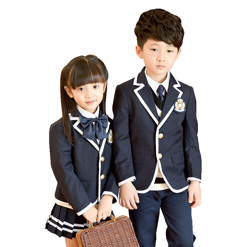 2018 New Spring Autumn Uniform School Children Suits Boys Girls School Uniforms Outwear Jacket Student British Style Suit 2-10T цена