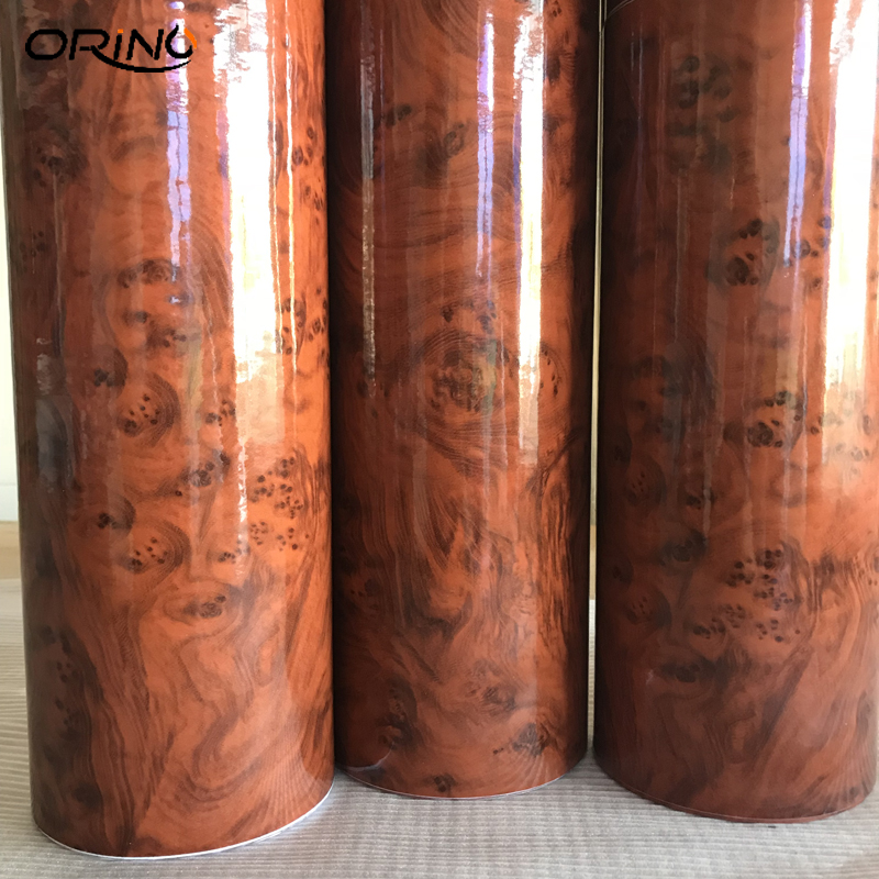 High Glossy Wood Grain Car Interior DIY Vinyl Sticker Decal Wrap Film Size 10/20/30/40/50CMX152CM(China)