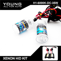 FREE SHIPPING H1 Xenon HID Conversion Kit 35W 6000K With Slim DC Ballast For Car Headlight