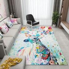 WINLIFE Colorful Spliced Carpets for Parlor Soft Flannel Living Room Area Rug Geometric Design Carpet цена в Москве и Питере