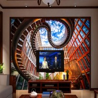 Free Shopping Creative Modern Design Architecture 3d Wallpaper Mural Living Room TV Decoration Background Wall