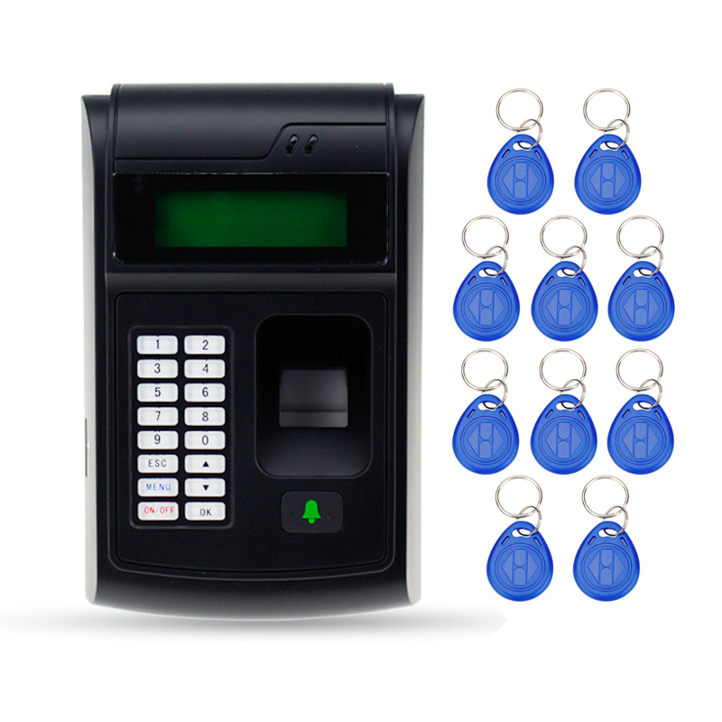 RFID fingerprint lock machine with access control digital keypad ID card reader password lock for electronic door lock system access control all in one machine reader entry door keypad lock access control system for office family & 10 promixity card