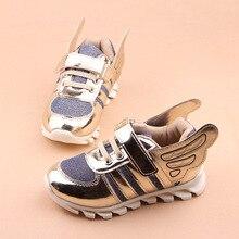 Children's Shoes 2017 Новая Коллекция Весна Дети Спортивные Парни Девушки Крылья Baby Shoes Casual Shoes