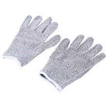 Safety Gloves Garden Working Proof Stab Resistant Elastic Fiber Mesh Butcher Anti-cutting Breathable Work Gloves Wholesale S M L