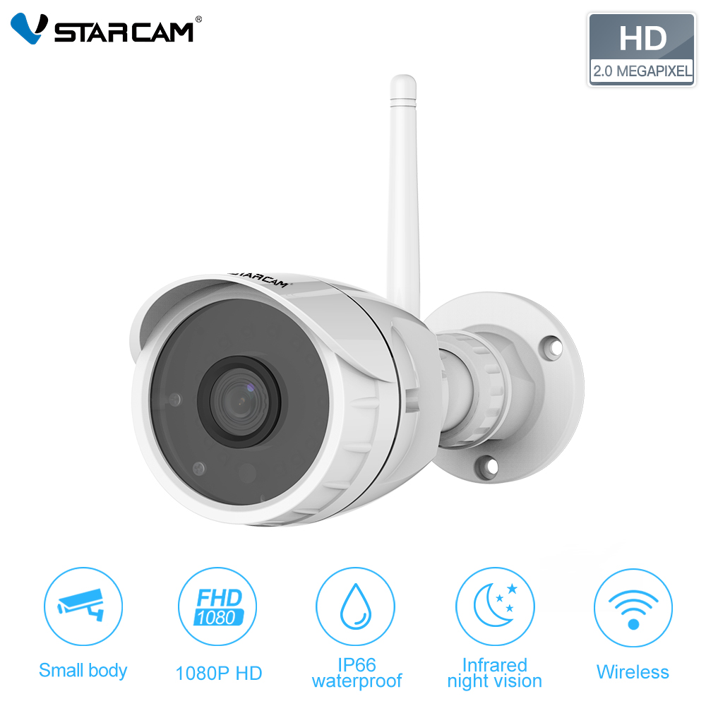 Vstarcam 1080 p 2MP FHD seguridad impermeable cámara de vigilancia inalámbrica IR-Cut CCTV exterior Bullet IP Cámara C17S