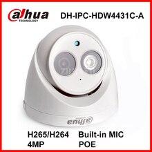 Dahua 4MP Full HD 1080P DH-IPC-HDW4431C-A Network IP Mini Camera POE Built-in Mic CCTV Digital Dome Camera H.265 Indoor Audio IP