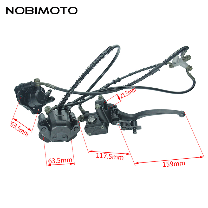 Dirt Bike Mini Bull Rear Double Brakes System High Performance Hydraulic Master Cylinder For Mini Bull Off Road Motocross DS-140 brother computer ds 140