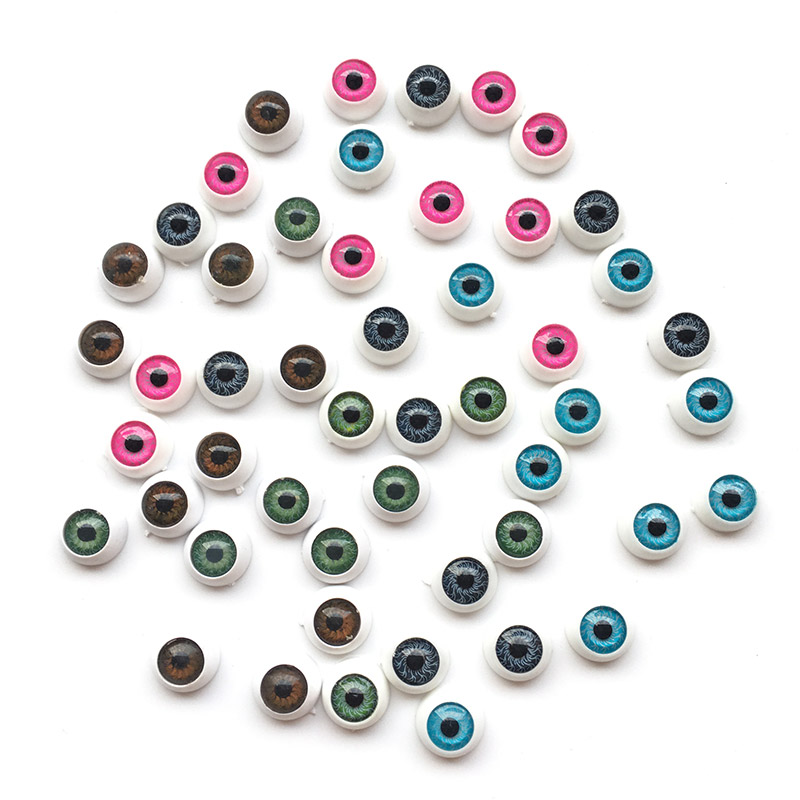 20pcs/lot 12mm Doll Eyeballs Round Acrylic Eyes For DIY Doll Bear Crafts Mix Color Plastic Dolls EyeBall Eye Accessories