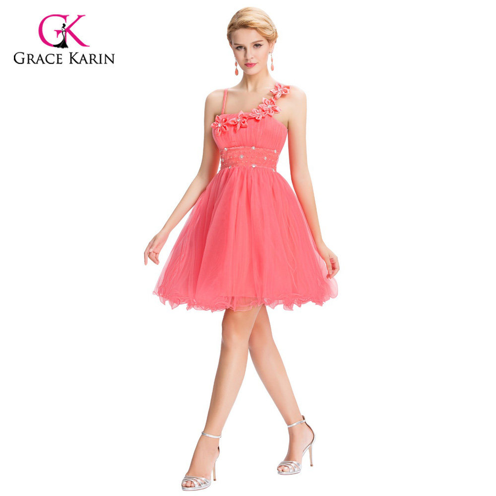 99ce4059be30e US $40.92 |Beautiful Pink Bridesmaid Dresses Grace Karin 2018 Flower Empire  cheap Short Wedding Junior bridemaids dress under 50 GK40-in Bridesmaid ...