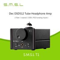 Декодер SMSL T1 для наушников Усилители ak4490eq + cm6632a ЦАП dsd512 384 кГц/32bit оптический/коаксиальный/XMOS /USB аналогового Вход Новинка 2017 года