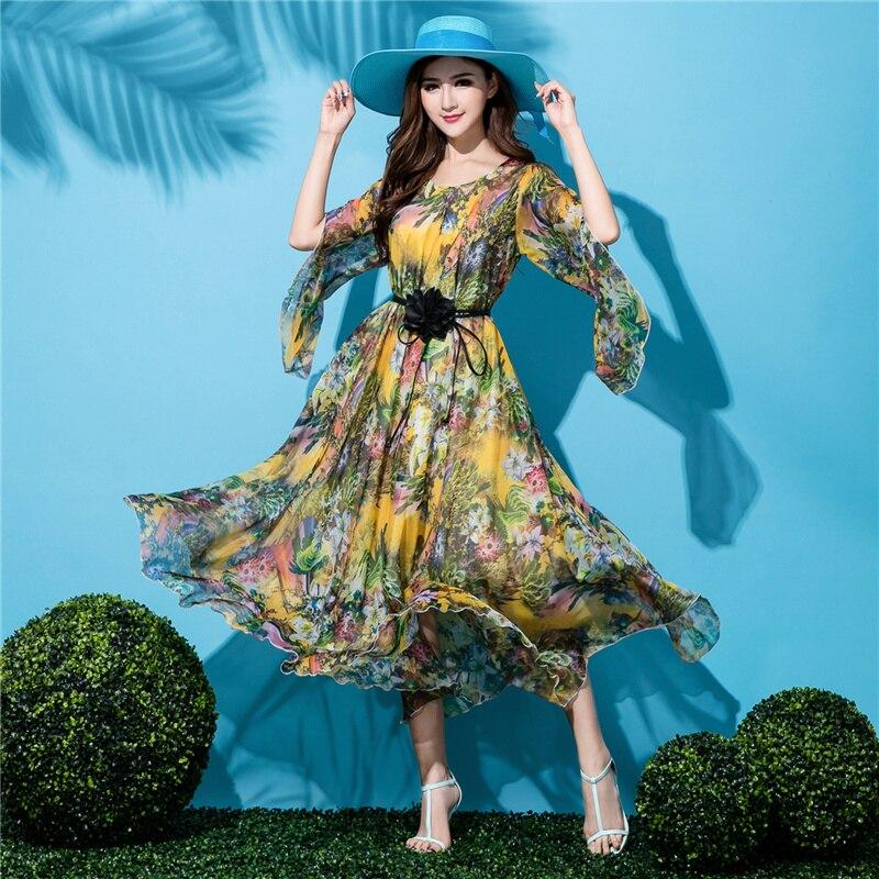 Summer Maternity Bohemia Holiday Beach V Neck Lightweight Sundress Honeymoon Wedding Guest Maxi dress