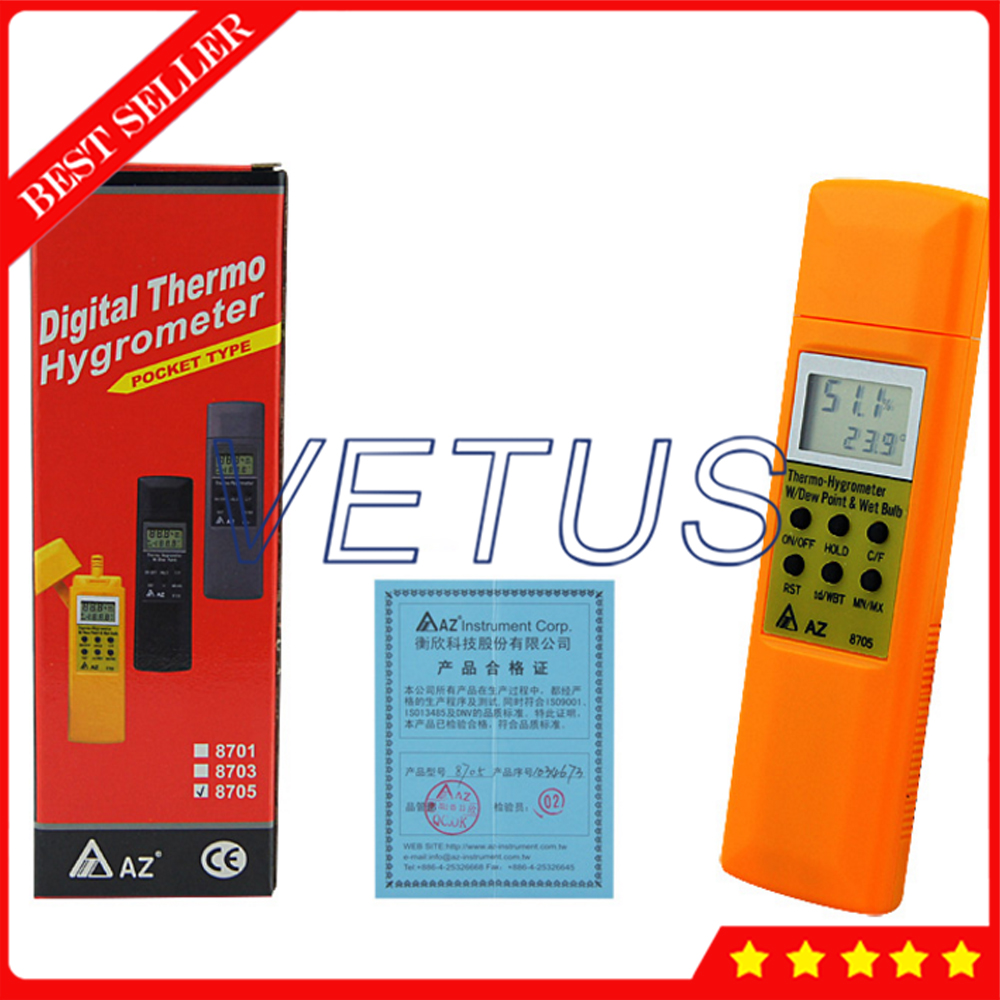 AZ8705 Handheld Hygro-Thermometer Dew Point Test Wet Bulb Tester