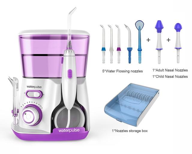 3 colores Oral hilo Dental irrigador... Waterpulse V300R agua 800 ml de higiene Oral herramientas para cuidado de los dientes