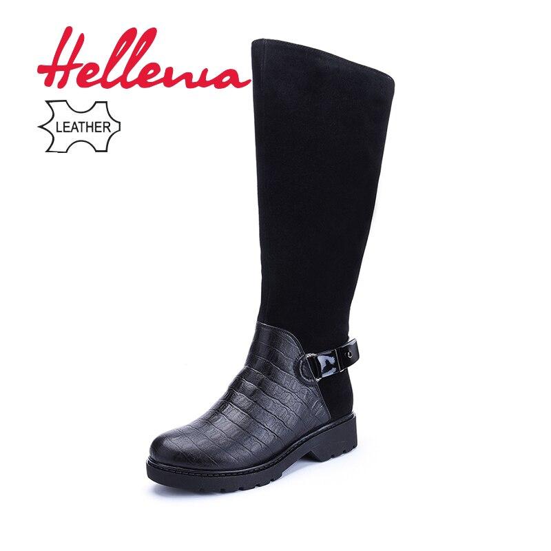3b65bce244f Sobre Botas Wool Mujeres Black Rodilla Felpa Calidad Zapatos Alta Con Punta  A Clásico Redonda Cuero ...