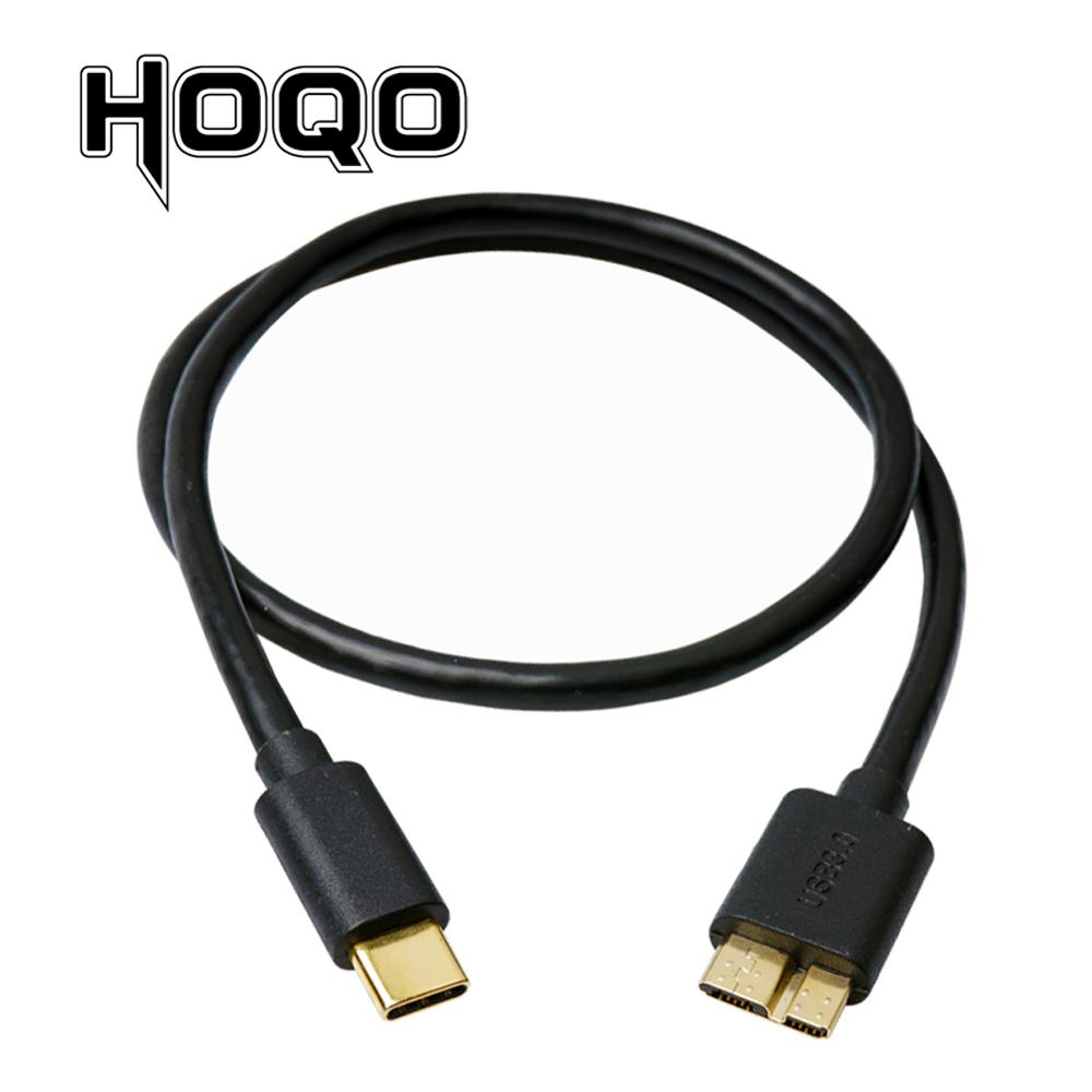 Gold plated USB 3.1 Type-C to USB 3.0 <font><b>Micro</b></font> <font><b>B</b></font> <font><b>Cable</b></font> USBC USB-C to <font><b>USB3.0</b></font> <font><b>Micro</b></font>-<font><b>B</b></font> Cord for Macbook Pro HDD Hard Drive Smartphone image