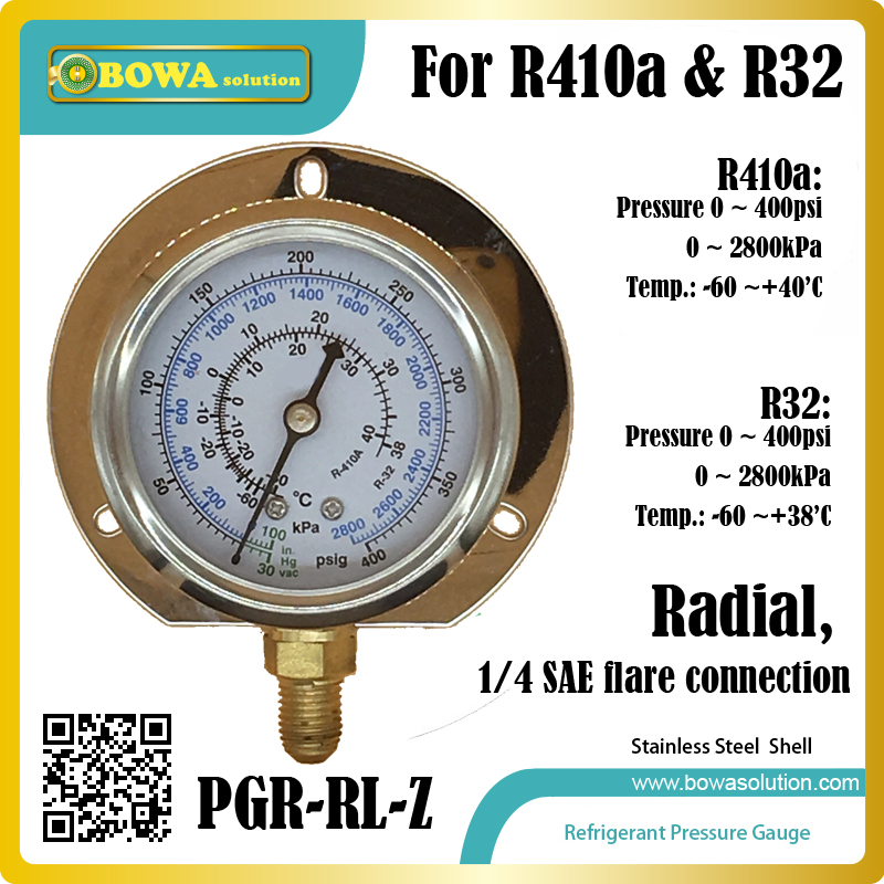 0~400psi, R410a, radial stainless steel Pressure Gauge for refrigerant equipments to monitor freon pressure and temperature homeleader 7 in 1 multi use pressure cooker stainless instant pressure led pot digital electric multicooker slow rice soup fogao