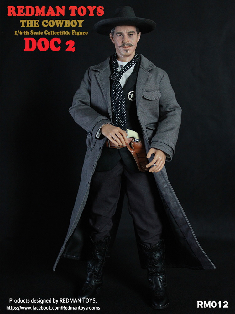 1:6 scale Super flexible male figure 12 action figure doll Collectible Model Plastic toys Tombstone Cowboy Doc Holliday