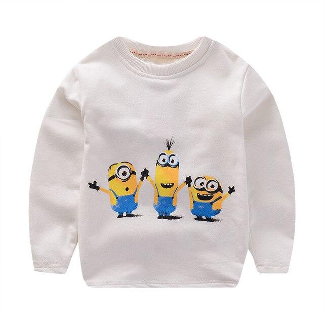 Дети свитер детская одежда мальчиков и девочек с длинным рукавом Футболки дна Гадкий я футболка enfant 3 цветов