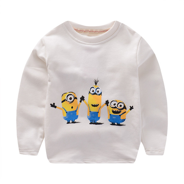 Kids sweater children wear boys and girls long sleeve T-shirts bottoming Despicable Me t-shirt enfant 3 colors