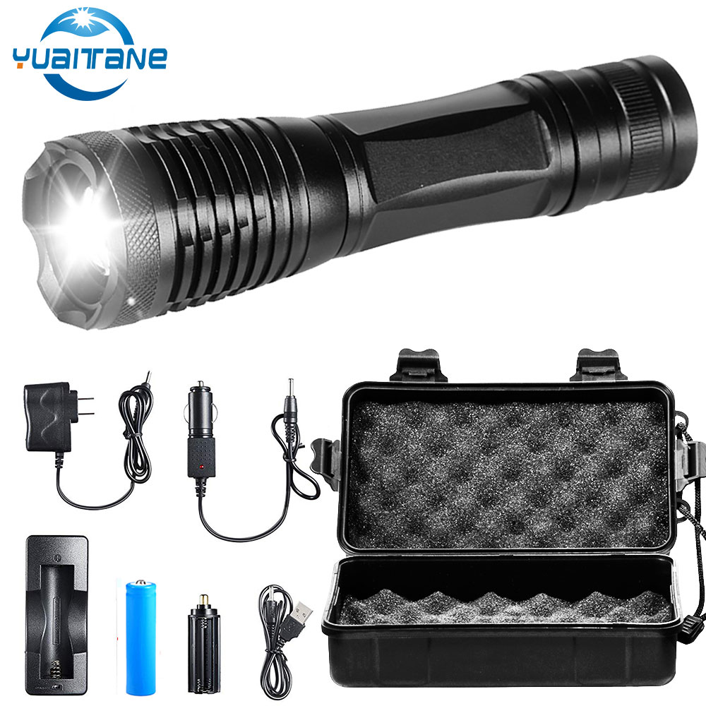 Flashlight 50000LM T6 LED Rechargeable 18650 5mode Focus Waterproof Lamp Torch