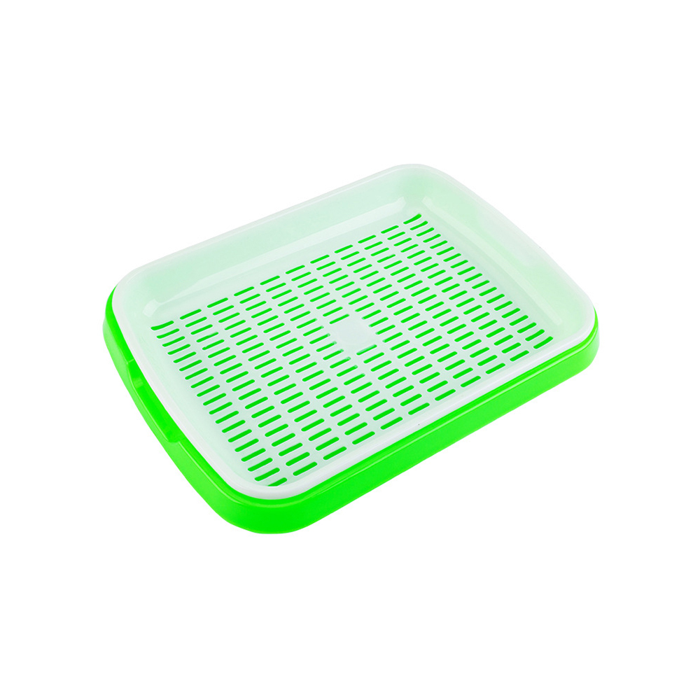 Seed Sprouter Tray Double layer Soilless Culture Beans Hydroponic Nursery Tray Nursery Pots Home Garden Tools|Nursery Pots| |  -