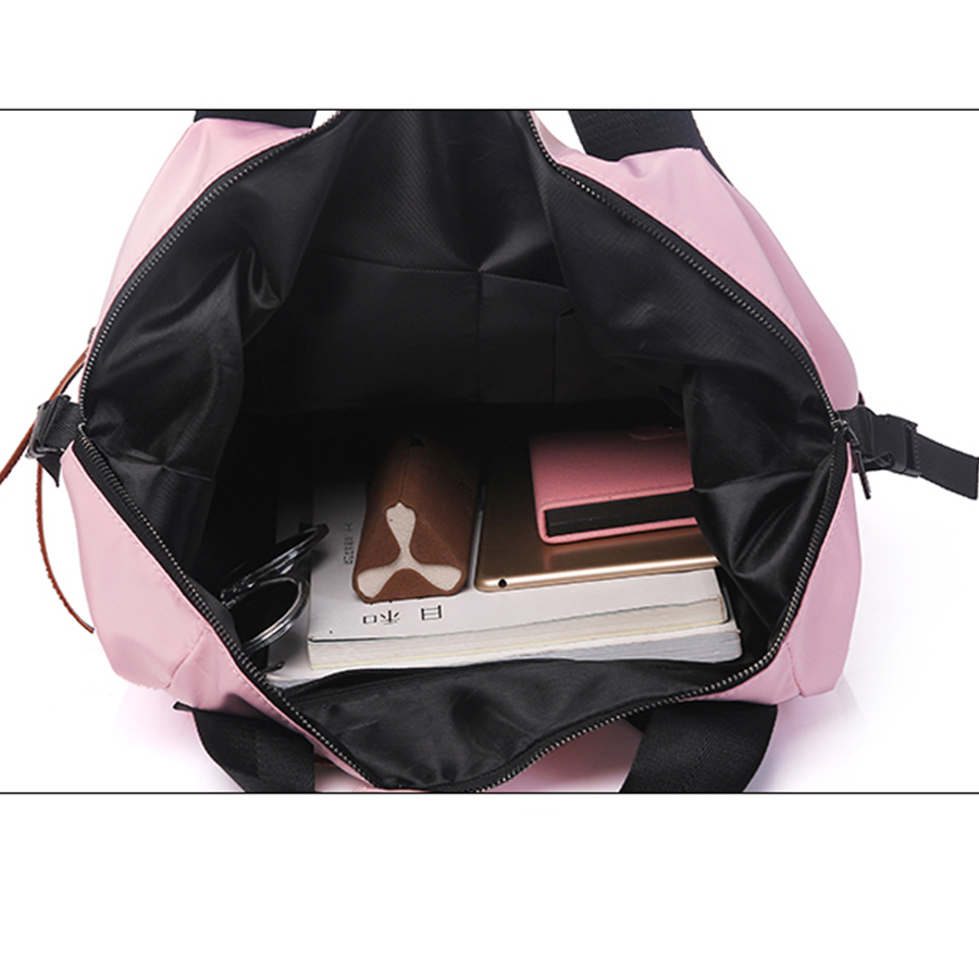 Casual Nylon Waterproof Backpack Women High Capacity Travel Book Bags for Teenage Girls Students Pink Satchel Casual Nylon Waterproof Backpack Women High Capacity Travel Book Bags for Teenage Girls Students Pink Satchel Mochila Bolsa 2019