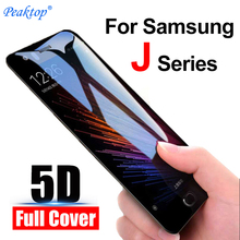 2pcs 5D protective glass on the for samsung j7 2017 j3 j5 Prime Screen