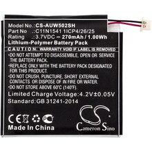 Cameron Sino 270mAh Battery Asus 0B200-01760100 C11N1541 1ICP4/26/25 For Asus W1502QF ZenWatch 2