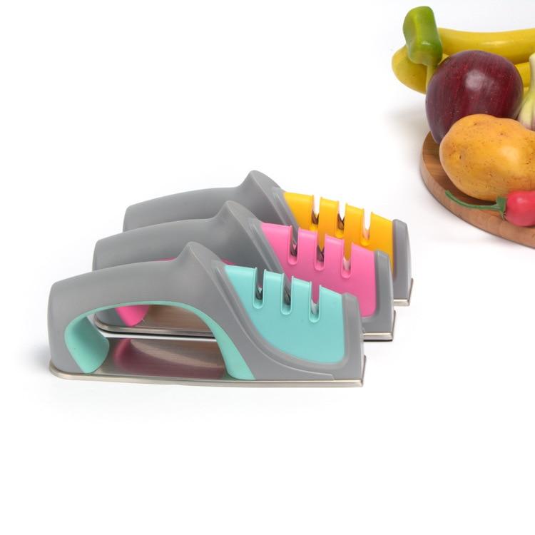 Ruční nářadí na ostření 3 stupňů Broušení nožů na ostření z nerezové oceli na ostření nožů na kuchyňské nože