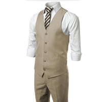 Tailor made men suits vest new design groom tuxedos vest handsome fashion formal business occasions suits vest