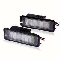 2 Pcs Error Free 18 LED License Plate Light Fit For Golf GTI 4 5 6