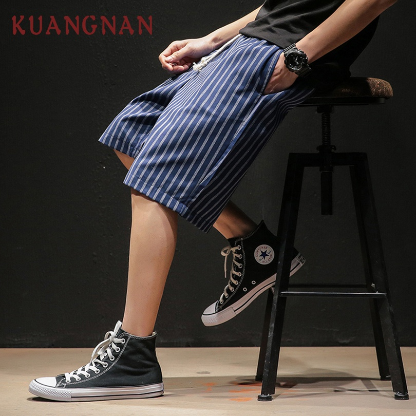 Men's Clothing Dedicated Kuangnan Striped Knee Length Shorts Men Streetwear Mens Shorts Summer Men Shorts Cotton Man Clothing 5xl 2019 New Arrivals Excellent Quality