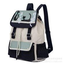 2016 женщин новый рюкзак Холщовый мешок