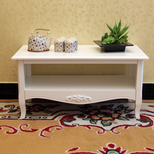 European-style living room coffee table wood small apartment minimalist Korean teasideend