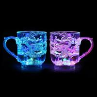 2018 New Light when Pouring Water the New Dragon Cup Colorful Luminous Cup Beer Mug Induction cup Light Water Cup