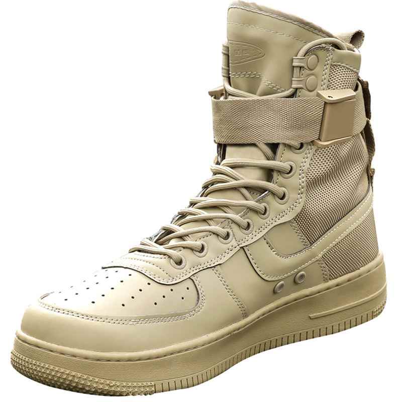 ab1b8d27a175 Outdoor Lightweight Men Military Training Boots Sports Hiking Boots Fishing Shoes  Army Tactical Combat Walking Shoes