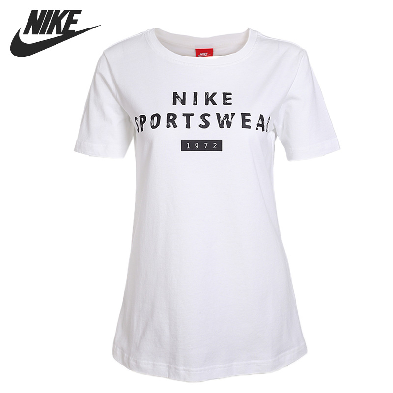 Original New Arrival 2017 NIKE AS W NSW TEE SS VERBIAGE Women's T-shirts short sleeve Sportswear original new arrival adidas rs ss tee m men s t shirts short sleeve sportswear