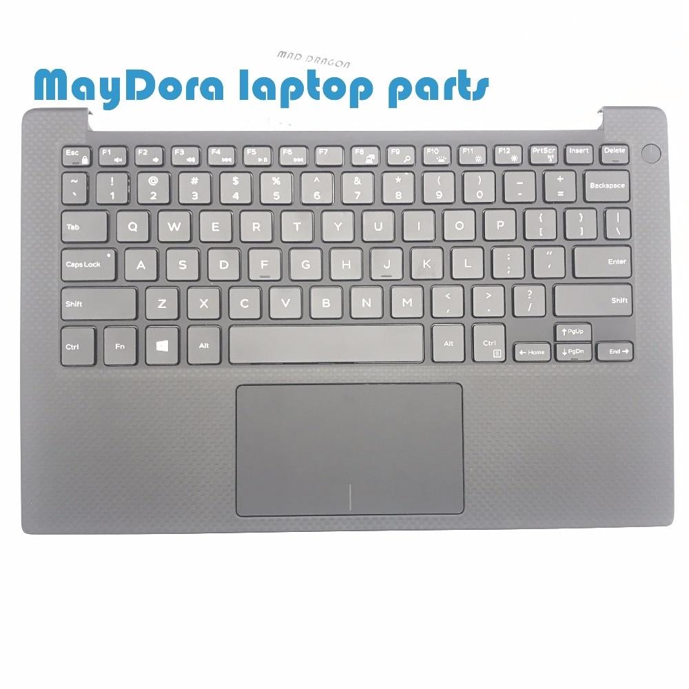 Ноутбук клавиатура США для Dell XPS13 9343 9350 9360 backit клавиатура сенсорная панель и Упор для рук в сборе
