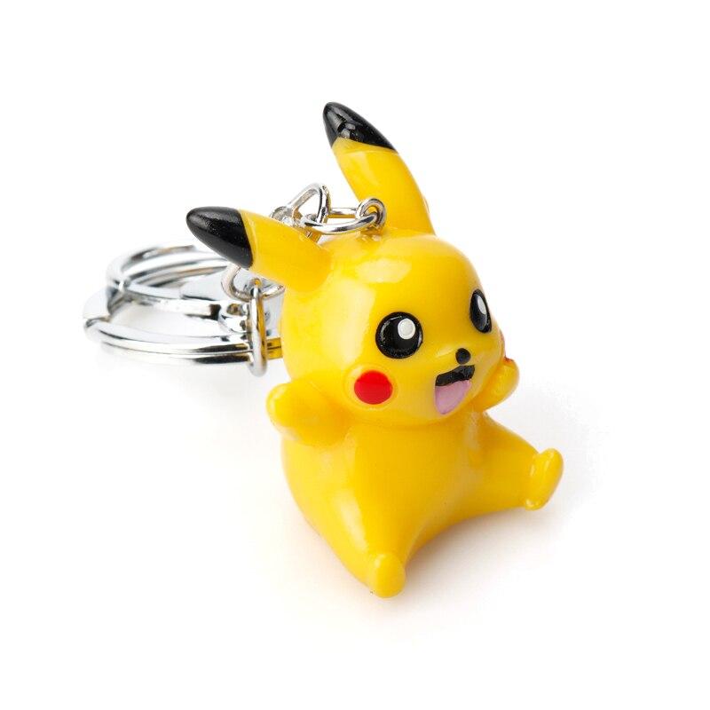 Cute Cartoon Key Chain Pikachu Key Buckle Handbags Backpack Keyholder Purse Jewelry Car Keyfob Useful Trinket Gift