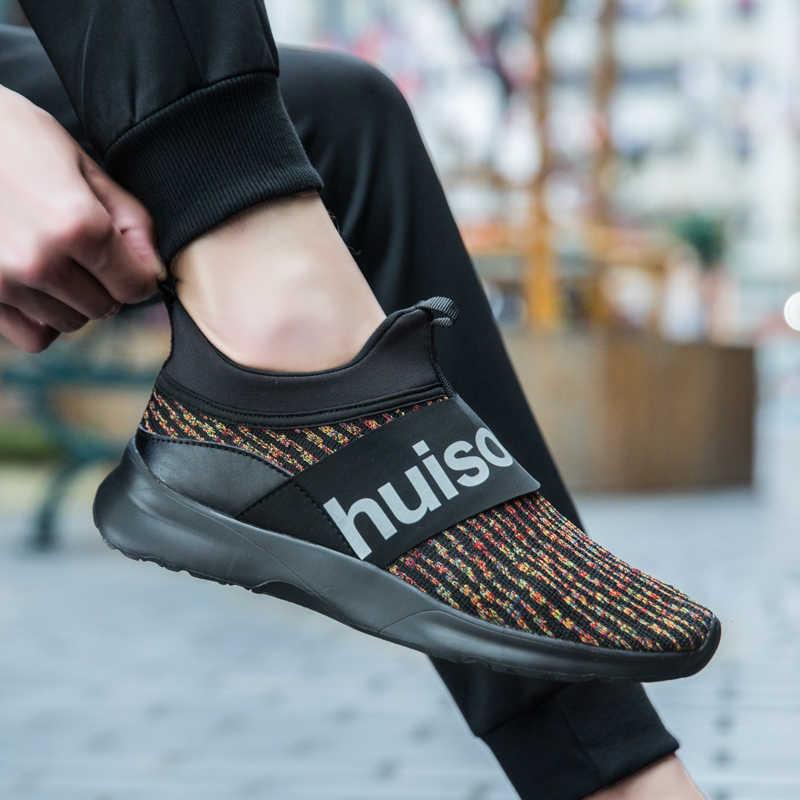 Damyuan 2019 Yeni Moda Klasik Ayakkabı erkek ayakkabısı Flyweather Rahat Nefes Olmayan deri Rahat Hafif kaymaz Ayakkabı