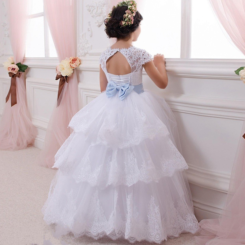 bloemenmeisjes jurk   Flower     Girl     Dresses   2017 Flowergirls for Weddings First Communion   Dresses   for   Girls   Tulle Ball Gowns