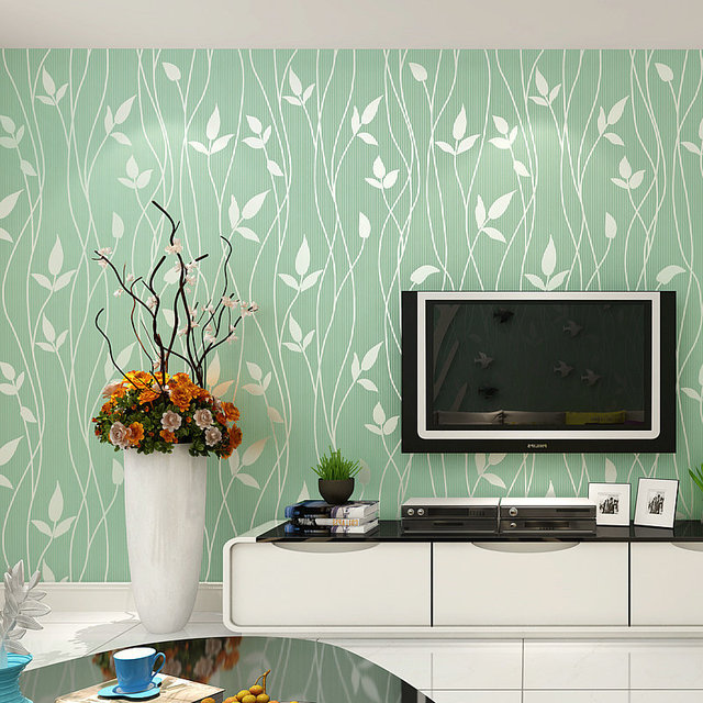 Beibehang Groen 3D Stereo Massaal Bladeren Behang Woonkamer TV Sofa ...