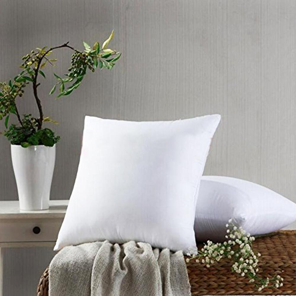 Soft Square Pillow Inner 45*45 Solid White Pillow Cushion Core Inner Filling Pillow Core Filler Throw Seat Pillow Interior Core