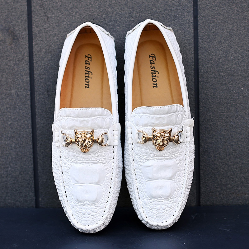 Men Party Dress Shoes Luxury Loafers Leather Moccasin Wedding Slip On Lazy Shoes Flat Driving Boat Shoes Male Gommino Zapatos