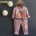 Menoea Girls Clothing Set 2016 Autumn New Long Sleeve Cartoon T-Shirt+Pant 2Pcs Boy Clothing Set Children Clothing Set For Kids