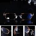 = = VIDA CLARA Señoras de La Manera HD Filos De Corte de Diamantes de Lujo Ultraligero Sin Montura Gafas de Lectura Con El Caso + 1 + 1.5 + 2 + 2.5 + 3