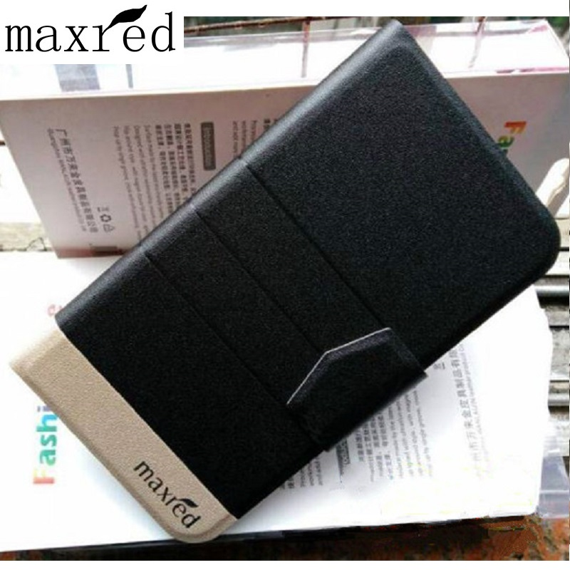 Maxred In Stock! Fashion PU Leather Case Cover For Leagoo Elite 1 Flip Book Style Wallet Stand Cover camera hole With Card Slot