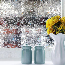 Privacy window foil film 3D Cherry Stained Static Cling glass sticker Self-Adhesive PVC glass film furniture Decorative 90x200cm