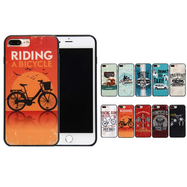 New Top For iPhone 7 Cases Behind Car element Phone Case For Apple iPhone 6 6S 6 Plus 7 Plus 6s Plus Case Retro street culture