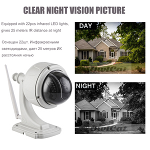 Image 5 - OwlCat Wireless IP Camera Wifi Dome PTZ Outdoor Cam with Microphone Speaker Two Way Audio Talk HD 5MP 2MP 5X Zoom SD Card Slot